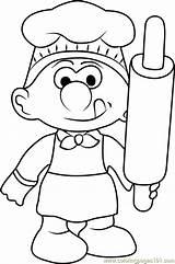Coloring Baker Smurf Smurfs Lost Village Printable Getdrawings Cartoon Coloringpages101 Getcolorings sketch template