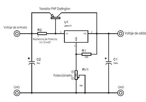 lm317 bypass transistorizado regulador de voltaje circuito el 233 ctrico y corriente