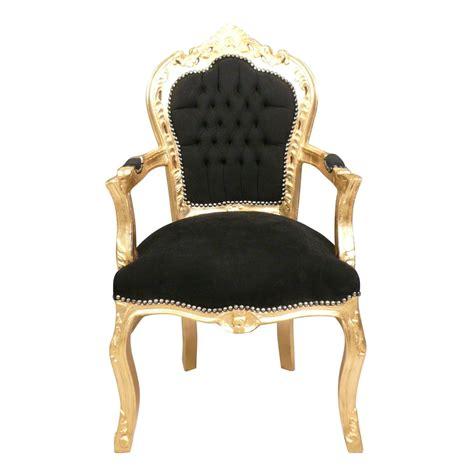 fauteuil baroque d occasion fauteuil baroque noir et dor 233 meubles baroques