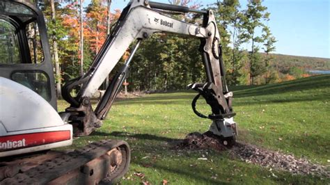 complete soft maple stump removal  bobcat  mini excavator  stumper  youtube