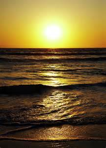 Sunset Over Pacific Ocean