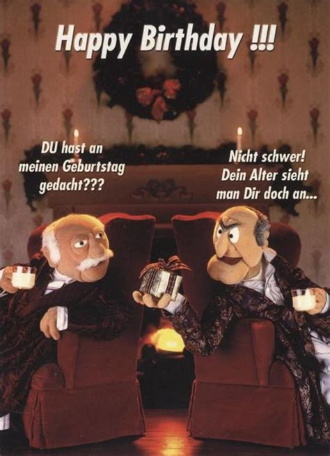 lustige postkarte muppet show happy birthday