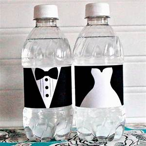 showcase portfolio archive With bride and groom water bottle labels