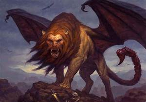 Manticore (Illustration) - Mythical Creatures Wallpaper