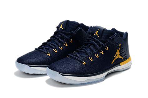 Nike Air Jordan Xxxi Low Michigan Deep Blue Yellow Men