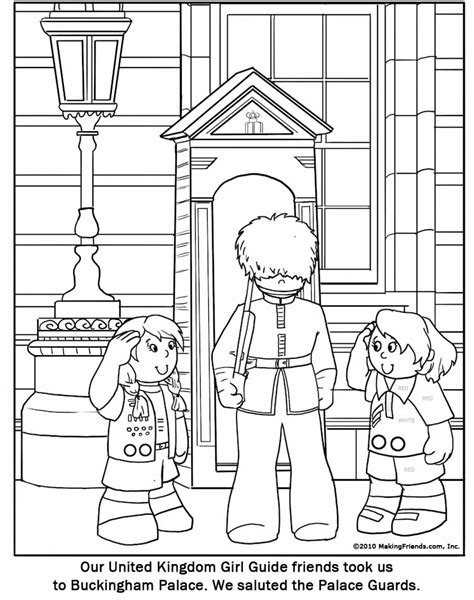 united kingdom girl guide coloring page makingfriends