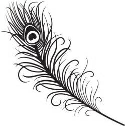Peacock Feather Clip Art Black and White