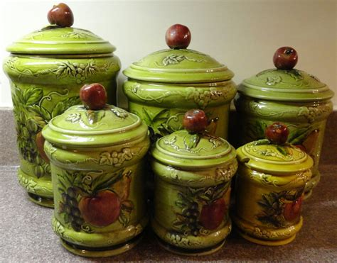 ceramic canisters for kitchen lefton kitchen canister set ceramic signed geo s lefton