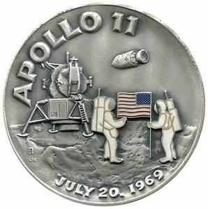 Lot Detail - SPACE 1969 LARGE APOLLO 11 SILVER & COPPER ...