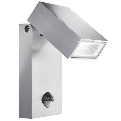 stainlesssteel ip44 led outdoor wall light motion sensor