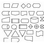 Flow Symbols Diagram Clip Vector Clipart Svg