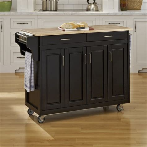 home styles black scandinavian kitchen carts  lowescom