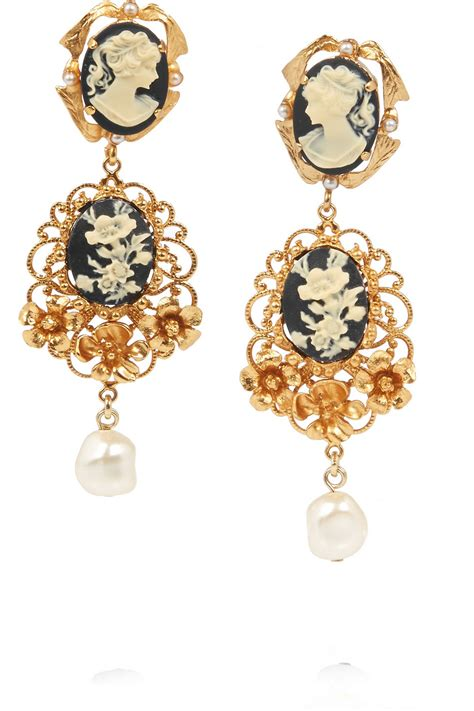 clip on earring earring vintage vision dolce gabbana 39 s cameo clip earrings