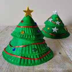 paper plate layered christmas tree craft i heart crafty things