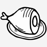 Ham Clip Cartoon Cvc Clipart Transparent Thanksgiving Netclipart Cliparts sketch template