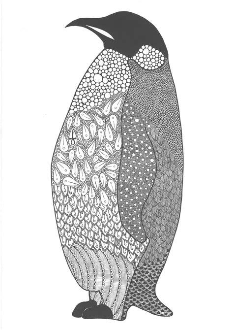 Zentangle Penguin by PoreenArt | Dibujos, Hojas para