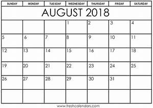 Calender August Free 5 August 2018 Calendar Printable Template Source