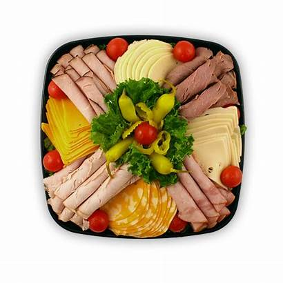 Cheese Meat Tray Four Basket Market Grocery
