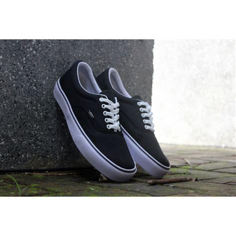 sepatu vans authentic black hitam polos white putih