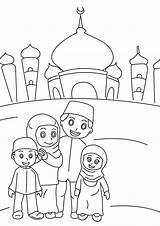 Ramadan Coloring Mubarak Template Coloringdoo Sketch sketch template