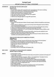 Web Content Specialist Resume Samples