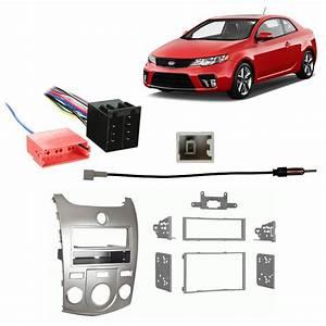 Fits Kia Forte 10-13 Manual Climate Multi Din Harness Radio Dash Kit
