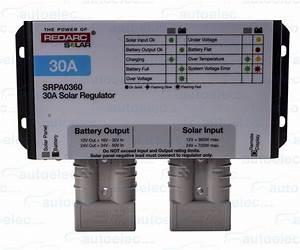 Redarc 30 Amp 30a Solar Panel Charge Regulator Controller