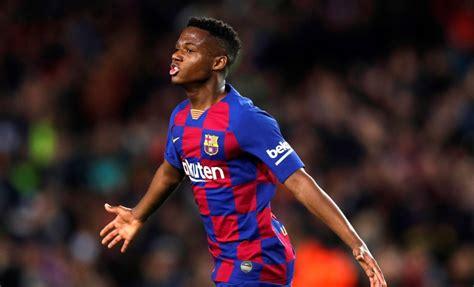 Ansu Fati La Liga top scorer and has scored 11 goals from ...