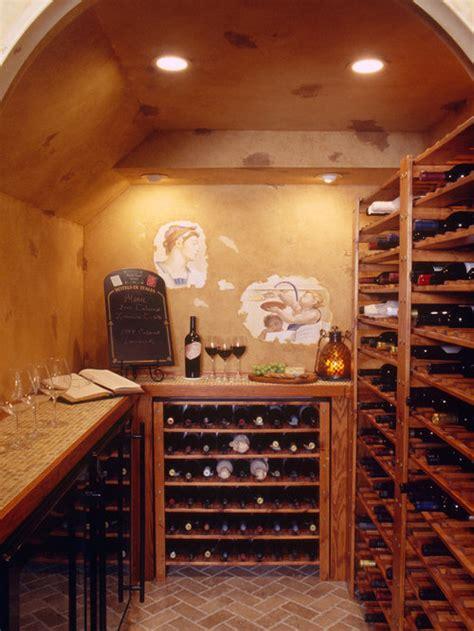 walk  wine cellar houzz