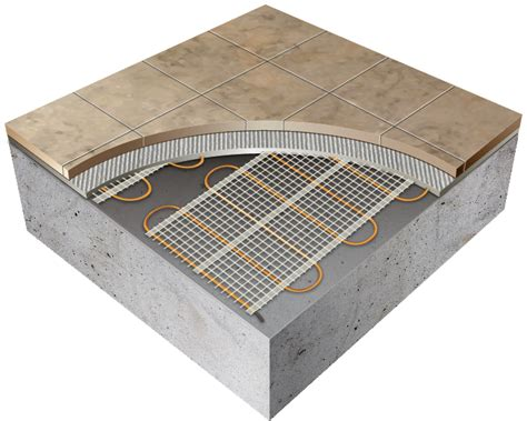 thermotile electric radiant floor tile heating system tt8 24