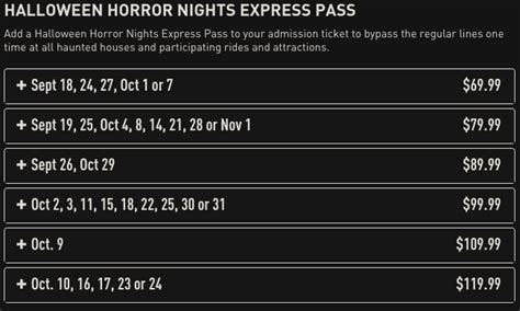 Halloween Horror Nights Express Passtm by Everything You Need To Know About Halloween Horror Nights