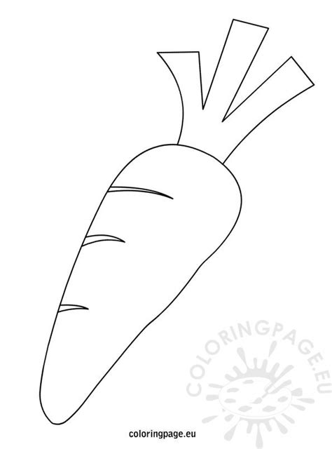 carrot template black and white carrot coloring page