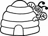 Bee Coloring Hide Wecoloringpage sketch template