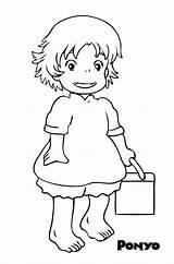 Coloring Ponyo Printable Totoro Ghibli Studio Colouring Coloringhome Anime Draw Miyazaki Adult Step Dessin Sheets Clipart Hayao Sketch Drawing Easy sketch template