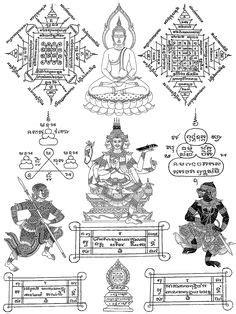 247 Best SAK YANT images | Thai tattoo, Sak yant tattoo