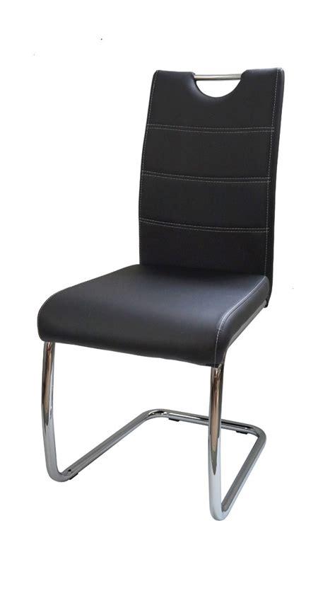 chaise design metal noir chaise de salle à manger design métal et pu noir raffie