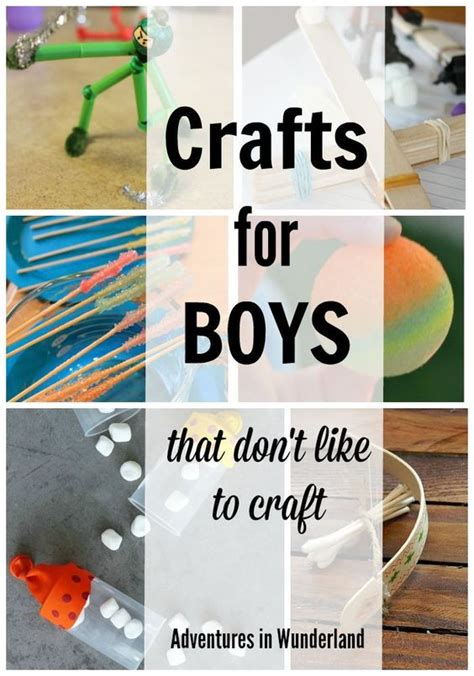 and crafts ideas for boys boredombustercrafts easy crafts of all kinds