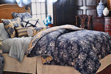 waverly comforters navy blue toile bedding home design blue toile bedding