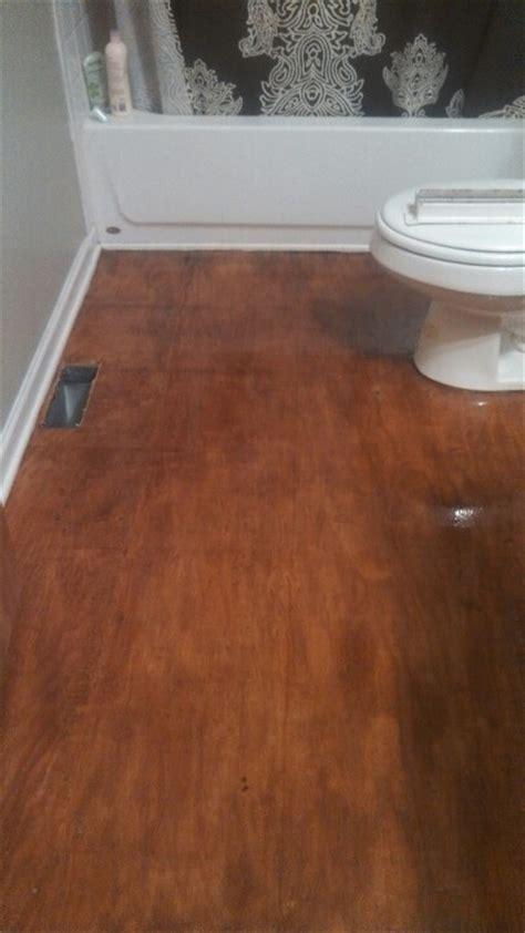 stained plywood floors ideas  pinterest