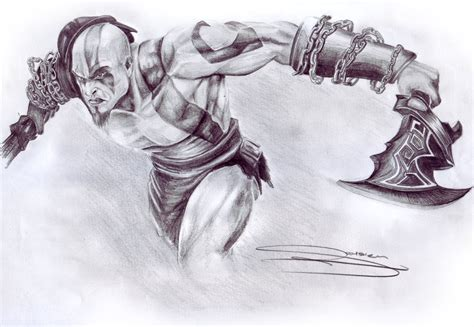 Kratos God Of War 3 By Urbanwolf222 On Deviantart