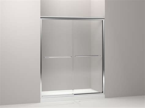 kohler fluence shower door kohler k 702217 l nx brushed nickel 3 8 quot thick glass 6685