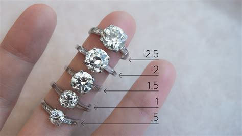 actual diamond carat size   hand erstwhile jewelry