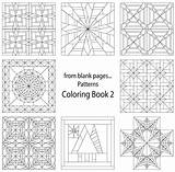 Coloring Quilt Pages Blank Patterns Pattern Printable Quilting Print Templates Sheets Template Crazy Name Colouring Adult Creative Star Fromblankpages Craftdrawer sketch template