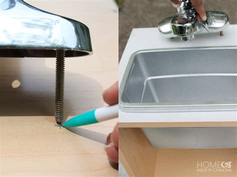 play kitchen sink faucet kid s diy kitchen playset home made by carmona
