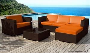 Salon De Jardin Miami : salon de jardin design miami en rsine tresse chocolat 5 places ~ Melissatoandfro.com Idées de Décoration