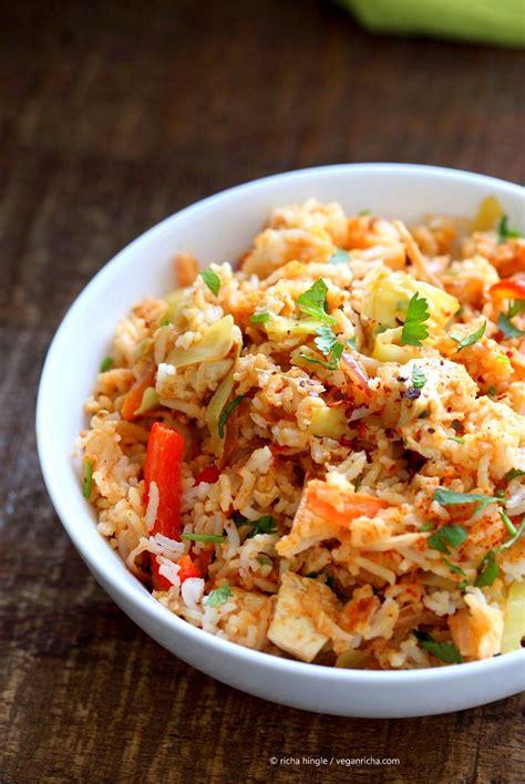 peanut sauce fried rice vegan richa