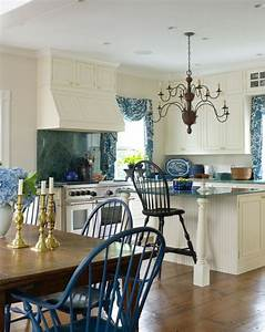 blue and white kitchen in a greek revival old house With kitchen furniture greece