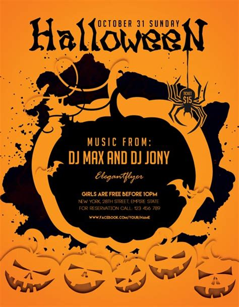 free printable halloween flyer freebie flyer template for photoshop