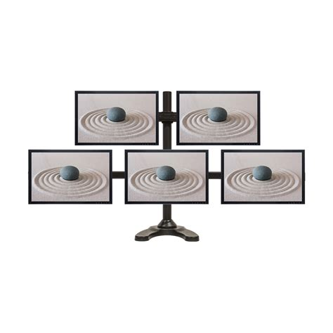 6 monitor desk mount penta lcd curved monitor desk mount free standing