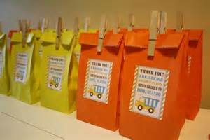 Construction Birthday Party Favor Bags